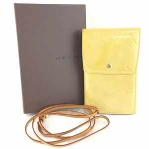 LOUIS VUITTON Vernis Walker Shoulder Wallet w box